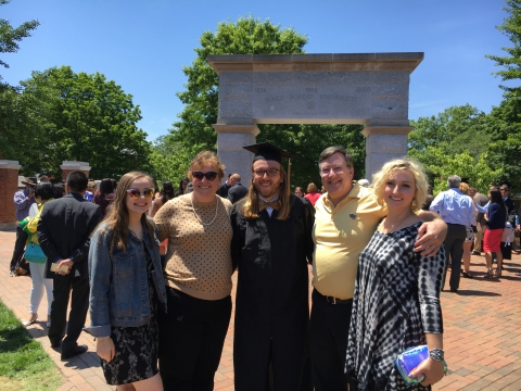 The Family at Wake Forest's Graduation