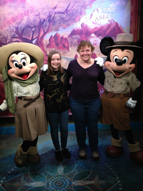 Safari Minnie and Mickey with Nancy and Sophie